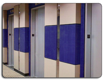 Lobby Elevators - Decorative Sound Solutions Walls