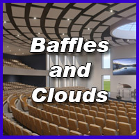 Baffles and Clouds Reduce Reverberation
