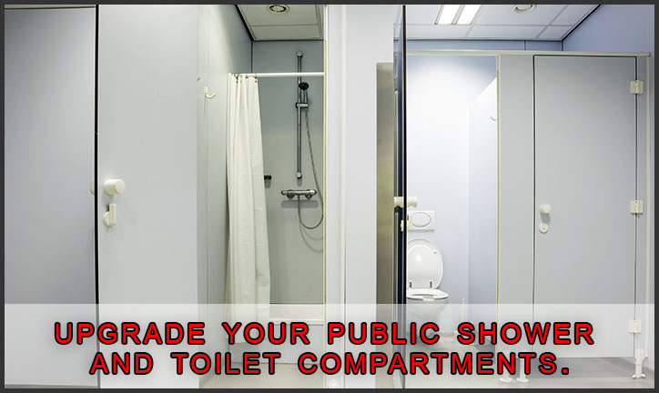 Public Shower Stalls and Public Restroom Toilet Partitions