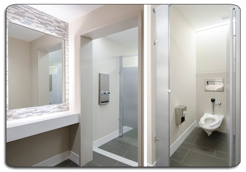 Snap Wall Toilet Partition Division Gallery Installation Toilet - Public bathroom partitions