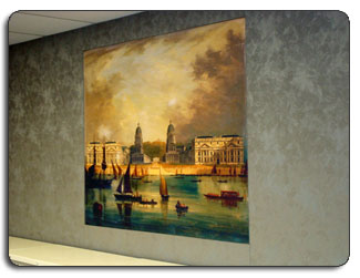 Upholstered Fabric ArtWork Hallways Restaurants More