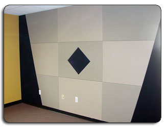 Upholstered Fabrics - Walls Hallways Lobbies Geometric Designs