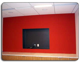Upholstered Fabrics Surround Wall Mount Flat Screen TV Video Display