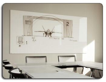 Clarus White Glassboard