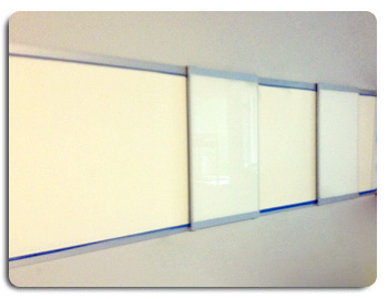 Wall Mounted Whiteboard with Multi-Sliding Levels